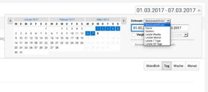 Ansicht Google Analytics - Zeitraum für Statistik auswählen