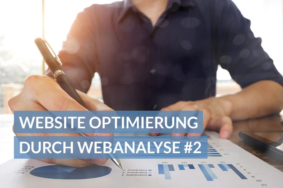 Website Optimierung durch Webanalyse Teil 2