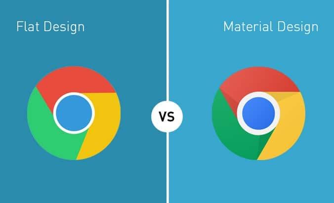Flat vs. Material