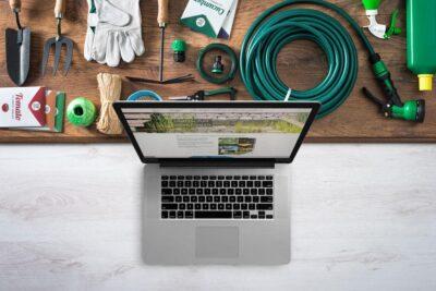 Ansicht der Gartencraft Website