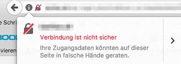 Warnung SSL Zertifikat