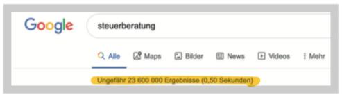 Google Suche Steuerberatung