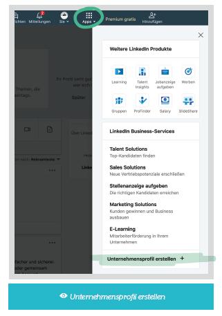 LinkedIn Unternehmensprofil erstellen
