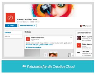 LinkedIn Fokusseite für die Creative Cloud
