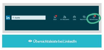 Übersichtsleiste LinkedIn