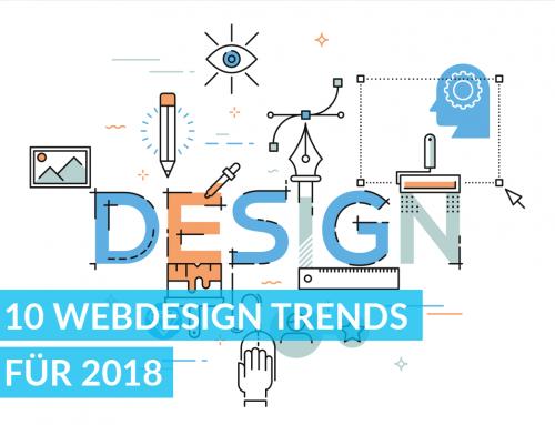 10 Webdesign Trends für 2018