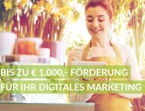 Wir sind zertifiziert! Sichern Sie sich bis zu € 1.000,- Förderung für Ihr Marketing.