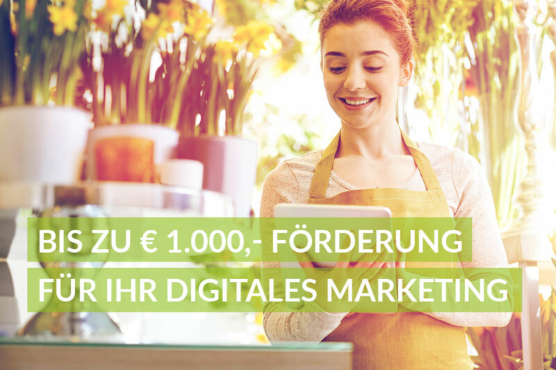 KMU Digital Förderung bis zu 1000 Euro