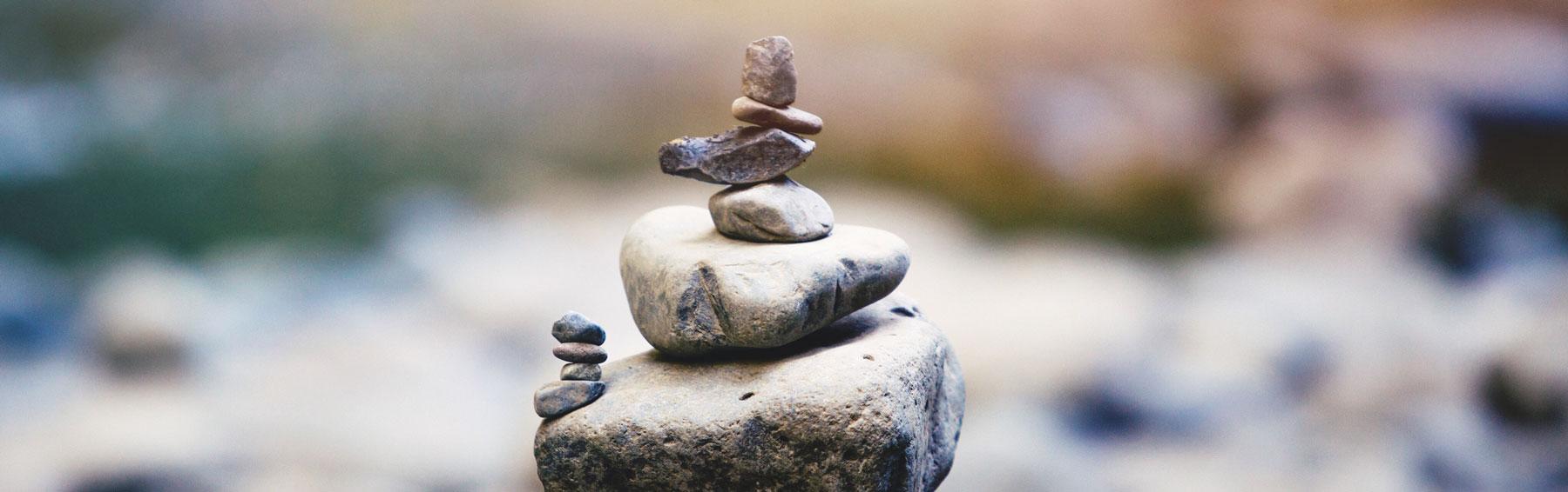 Steine gestapelt