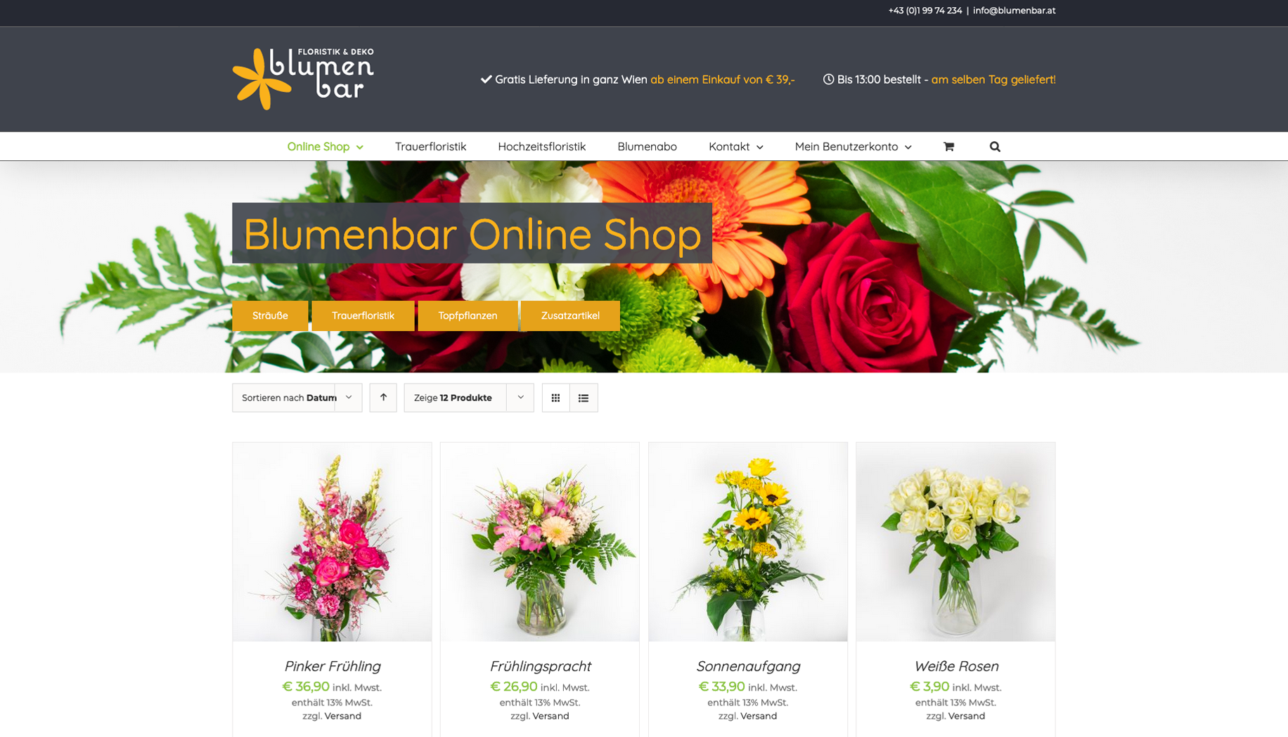 Online Shop für Floristen