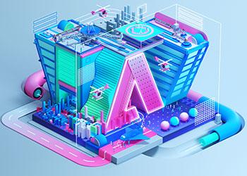 Stadt im isometrischen Design