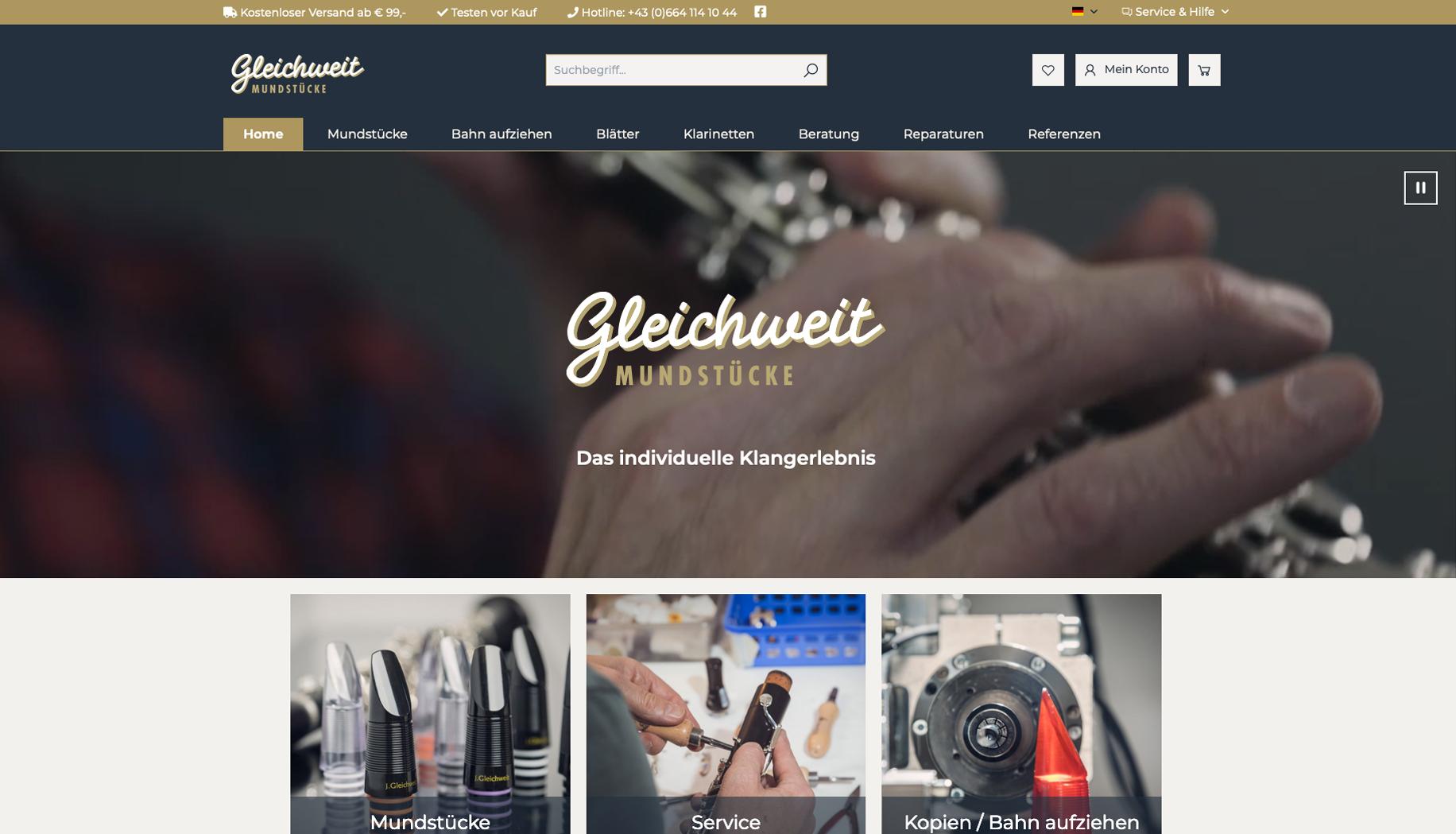 Online Shop für Gleichweit Mundstücke