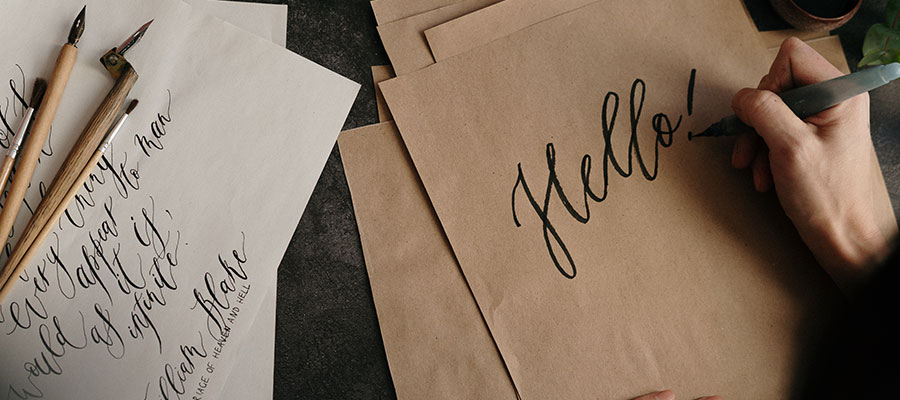 Lettering auf Papier